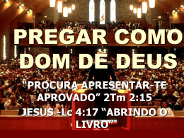 PREGAR COMO DOM DE DEUS