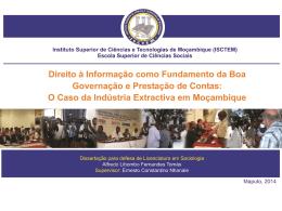 Direito a informação como fundamento de boa governação e