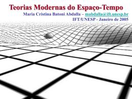 Teorias Modernas do Espaço-Tempo