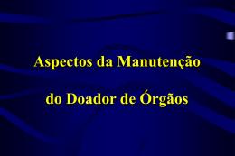 Manutenção do Doador de Órgãos