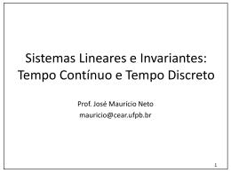Sistemas Lineares e Invariantes