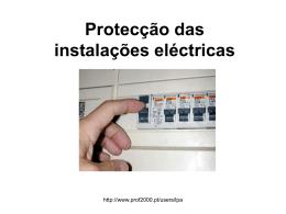 Protecção das instalações eléctricas contra sobreintensidades