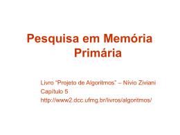 Pesquisa em Memória Primária