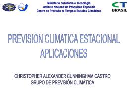 Ministério da Ciência e Tecnologia Instituto Nacional de