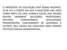 proposta de Educação