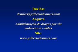 Adiminstração II bolus - Gilberto De Nucci . com