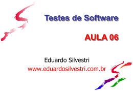 TesteSw_Aula06 - Professor Eduardo Silvestri