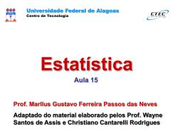 Distribuição Binomial - Universidade Federal de Alagoas