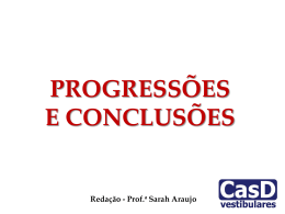 AULA 12 - PROGRESSÕES E CONCLUSÕES