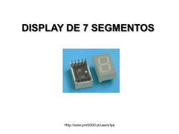 DECODIFICADOR E DISPLAY DE 7 SEGMENTOS