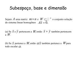 Subespaço, Base e Dimensão
