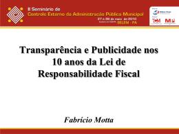 dez anos da lei de responsabilidade fiscal – repercussões