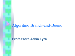 Algoritmo Branch-and