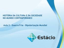 aula 2 história da cultura e da sociedade no mundo contemporâneo