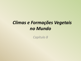 Climas e Formações Vegetais no Mundo