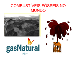 COMBUSTÍVEIS FÓSSEIS NO MUNDO