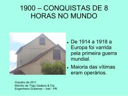 5 - 1900 Conquistas de 8 Horas no Mundo