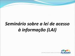 Seminário sobre a Lei de Acesso à informação