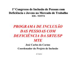 programa de integração da pessoa com deficiência no mundo