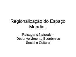 Regionalização do Espaço Mundial 02