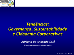 GOVERNANÇA CORPORATIVA - UBQ