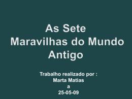As Sete Maravilhas do Mundo Antigo - pradigital-martamatias