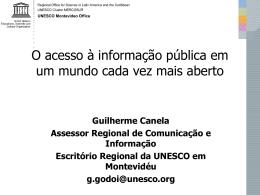O acesso à informação pública em um mundo cada vez mais