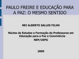 Paulo Freire e Educação para a Paz