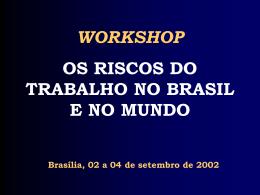 Os riscos do trabalho no Brasil e no Mundo