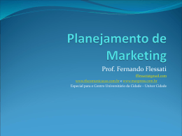 Planejamento de Marketing - TFS Comunicação & Marketing