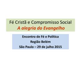 Região Belem - Pastoral Fé e Política