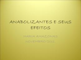 ANABOLIZANTES E SEUS EFEITOS: