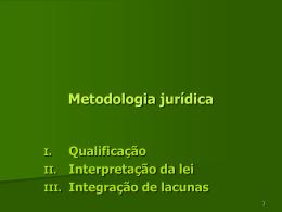 Interpretação e integração - Faculdade de Direito da UNL