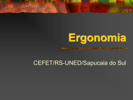 Ergonomia – CEFET/RS