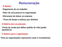 Tema 4 – remuneração e benefícios (1)