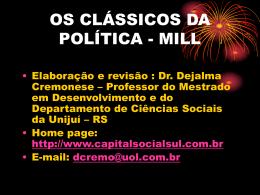 OS CLÁSSICOS DA POLÍTICA - MILL