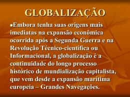 GLOBALIZAÇÃO - Colégio Santos Anjos