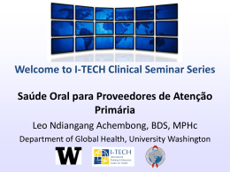 Qual é o diagnóstico? - Global Health Clinical Seminar Series