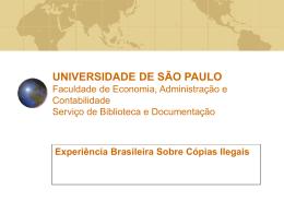 Experiência brasileira sobre copias ilegais