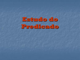 é Predicativo do Sujeito