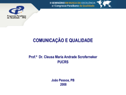 Prof.ª Dr. Cleusa Maria Andrade Scroferneker – PUCRS