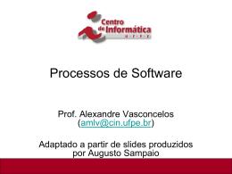 Introdução aos Processos de Software e aos Ambientes PSEE