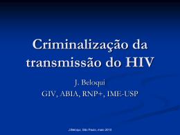 Criminalização da transmissão do HIV Jorge Beloqui