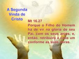 A segunda vinda de Cristo