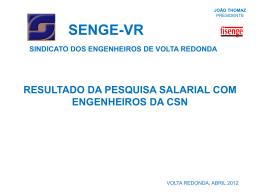 Pesquisa 2012 - SENGE-VR