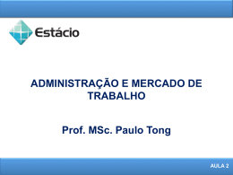Aula 2 - prof. paulo tong home page