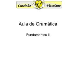 Aula de Gramática - Cursinho Vitoriano
