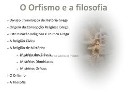 O Orfismo e a filosofia