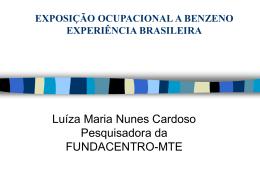 Exposição Ocupacional a Benzeno Experiência Brasileira