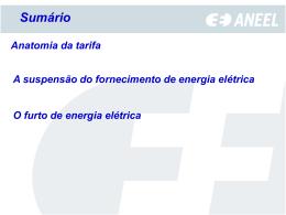 A suspensão do fornecimento de energia elétrica